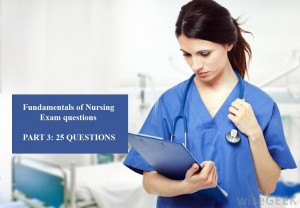 Exam will cover concepts Fundamentals of Nursing